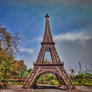A theme park featuring a 60-ft Eiffel Tower.
