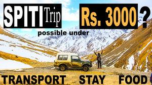 SPITI VALLEY TRIP UNDER Rs. 3000