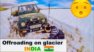 OFFROADING ON GLACIER | Winters in Spiti valley