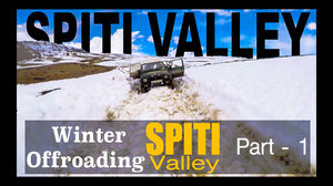 Winters offroading drive to SPITI VALLEY