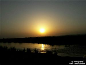 A wonderful sunset soothes your mind and soul. Outskirts of Jammu region near chenab river.