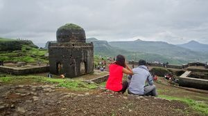 Lohagad for a rainy, cloudy, windy day out