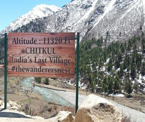 Chitkul... The last inhibited village on old Indo-Tibet road