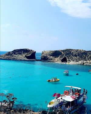 Amazing colourful Malta with Azure blue lagoons and sea caves in Mediterranean sea & GOT sites