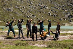 this is what happens when a group of strangers with a common goal go on a rather difficult trek...