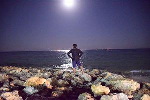 Moon, Ocean and Waves