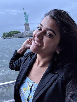 Statue of Liberty #SelfieWithAView  #TripotoCommunity