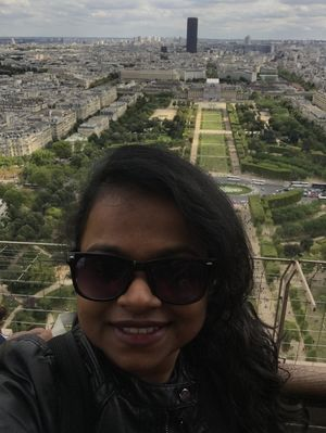 Top of Eiffel Tower - Paris  #SelfieWithAView Tripotocommunity