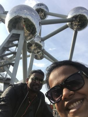 Brussels - The Atomium #SelfieWithAView #TripotoCommunity