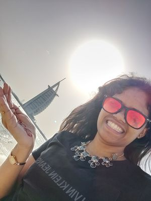 #SelfieWithAView #TripotoCommunity Selfie with The Seven Star Hotel - Burj Al Arab