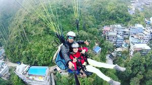 Flying like a bird...A life time experience of Paragliding  #SelfieWithAView #TripotoCommunity