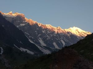 Last glance of sunrays on hanuman tibba!