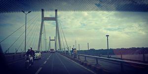 Hanging bridge allahabad