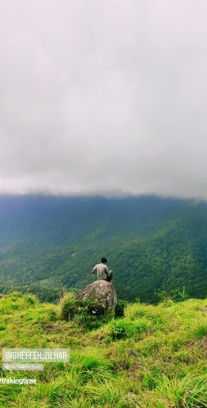 Varayadumotta is the tallest peak in the Ponmudi mountain range, Nedumangad taluk, Thiruvanathapuram