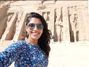 Abu Simbel Temple, the beauty! #SelfieWithAView #TripotoCommunity