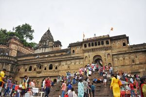 A Temple town on the bank of Narmada River