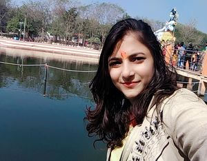 #Scenic Beautiful view of Chandrika Devi Temple# Positive vibes #Selfie With A View #Tripoto Communi