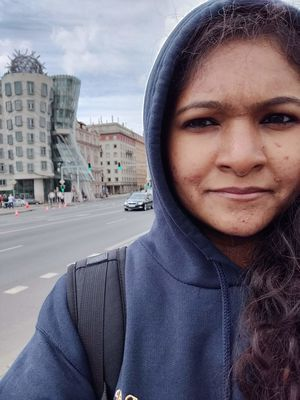 Looking suspiciously at the Dancing House in Prague #TripotoCommunity #SelfieWithAView