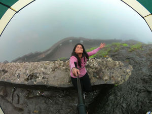 Feeling the mist under the umbrella. #tripotocommunity #selfiewithaview