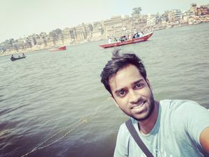 Lets take a dip in Ganga river! Jai Ganga mata.. #SelfieWithAView #TripotoCommunity