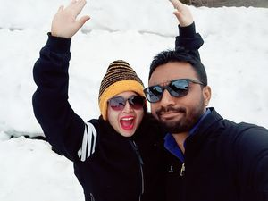 Snow everywhere snow ❄  #love #cold #twining #Honeymoon #exited #thrill #Awesomeplace