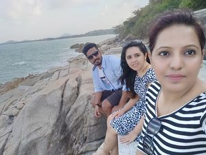Waves crashing the shores! #SelfieWithAView #TripotoCommunity