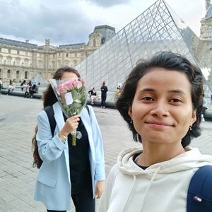 'La Paris' With my soul sister ???? #SelfieWithAView #TripotoCommunity #france #Paris