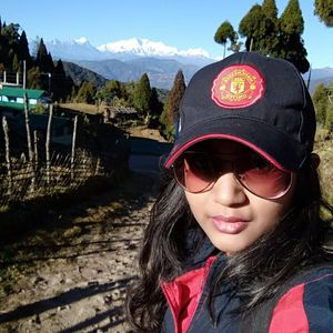 Sharing the frame with Mt. Kanchenjunga. During trek to tonglu. #SelfieWithAView #TripotoCommunity