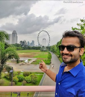 Did you just look at the Singapore Flyer! ???? #TripotoCommunity #SelfieWithaView #singapore