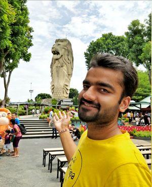 Merlion Statue. #TripotoCommunity #SelfieWithaView #singapore #merlion