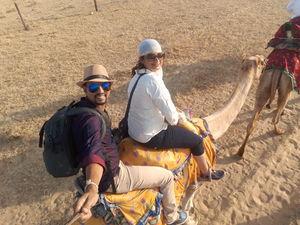 #SelfieWithAView   #TripotoCommunity Desert safari ....