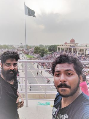 a day at the Wagah!   #SelfieWithAView #TripotoCommunity.