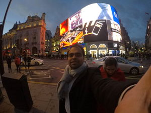 #SelfieWithAView #TripotoCommunity #GoProSelfie | The Famous Piccadilly Circus !!