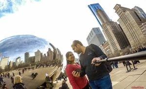 #SelfieWithAView #TripotoCommunity | #GoProSelfie #ChicagoBean