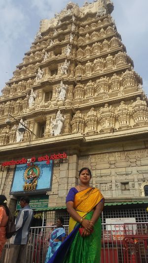 Feeling awesome when I visit my fav temple standing behind me.....