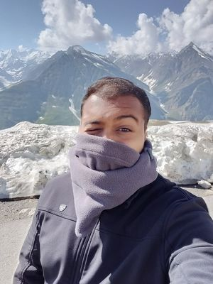 Selfie with the Himalayas!  #SelfieWithAView #TripotoCommunity #Himalayas #EpicJourney
