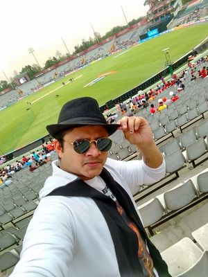 #SelfieWithAView #TripotoCommunity... Selfie In Mohali Cricket Stadium, Most Beautiful Stadium .