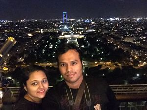 View from top floor of Eiffel Tower #SelfieWithAView #TripotoCommunity