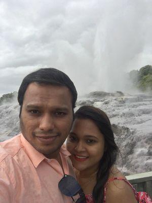 Nature's wonders.. Erupting geysers! #SelfieWithAView #TripotoCommunity