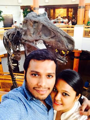 Selfie with the friendly Dino!  #SelfieWithAView #TripotoCommunity