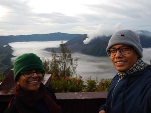The smoky Mt. Bromo #TripotoCommunity #SelfieWithAView
