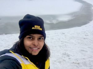 Tears rolled after taking last step to 16,470 ft #TripotoCommunity #SelfieWithAView