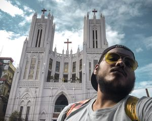 One Of The Best looking church ⛪️ in center of the city is amazing ❤️ #selfiewithaview