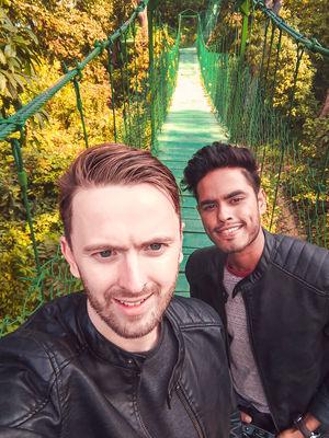 Beautiful hanging bridge ❤️ #SelfieWithAView #TripotoCommunity