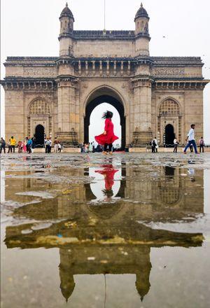 Reflection at Gateway of India
