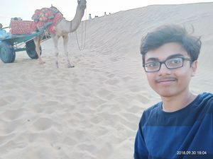 #SelfieWithAView #VivoS1 Here is my selfie clicked on my Rajasthan Trip with a camel