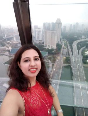 #SelfieWithAView #TripotoCommunity Mesmerising Skyline at Marina Bay Sands Observations Deck