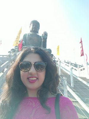 #SelfieWithAView #TripotoCommunity Tranquillity and Peace at the Big Buddha Hong Kong
