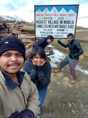 Selfie on Highest Village In World Connected With Motorable Road #SelfieWithAView