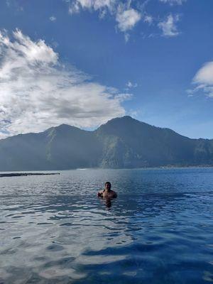Mount batur ....batur lake and the mood